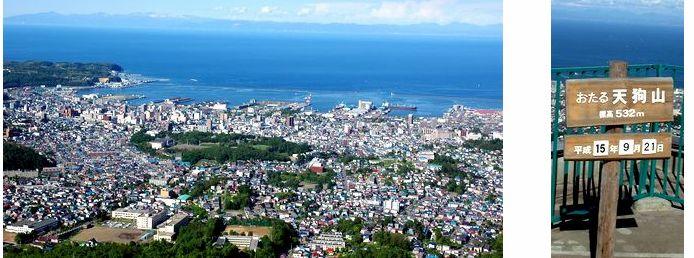 天狗山頂から見た小樽市街